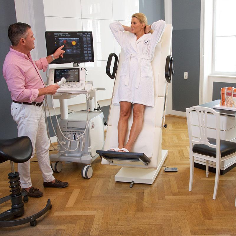 Untersuchung Kampfadern Muenchen Dr. Netzer - Diagnostik